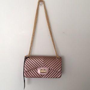 Bag pink blush & gold Handbag clutch new with tag